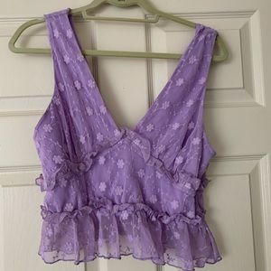 Majorelle size medium purple crop tank top